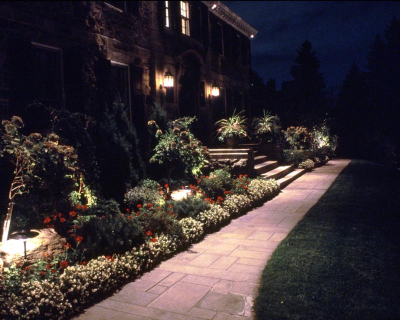 Landscaping Lights Installation : Landscape lighting installation corliss landscaping lawn care